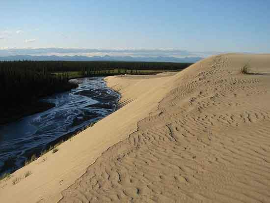 KOVA Sand dunes and creek
