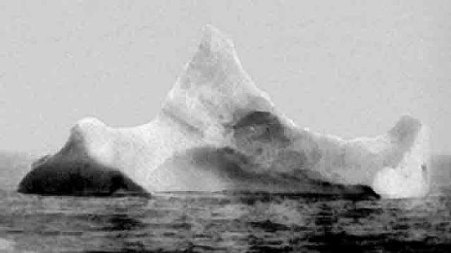 22 Iceberg with black paint (Purportedly a picture of the iceberg that brought down the Titanic)