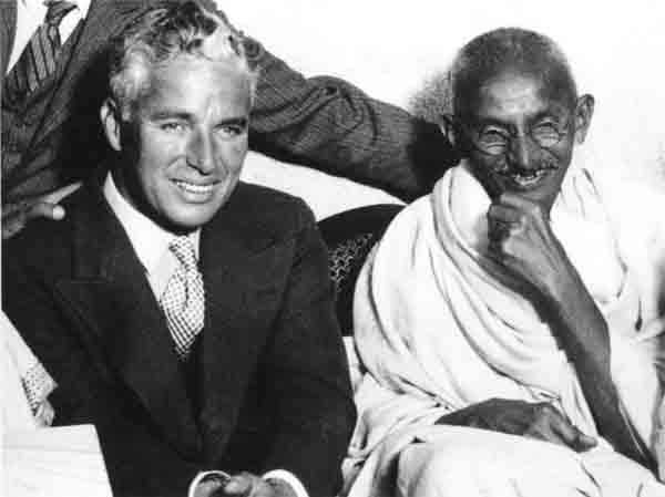 27 Charlie Chaplin and Gandhi