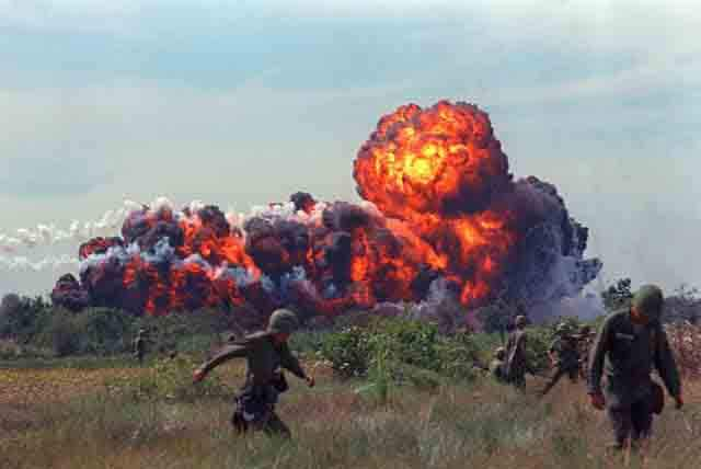 65 Napalm dropped on Vietnam