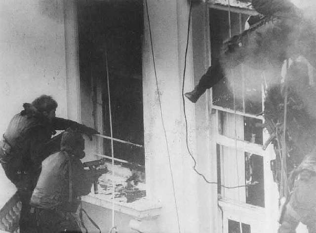 75 British SAS storm the Iranian Embassy