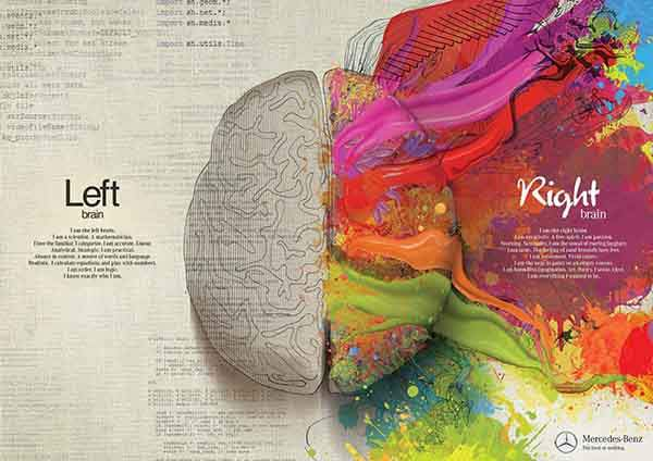 Mercedes Benz - Left Brain - Right Brain -paint