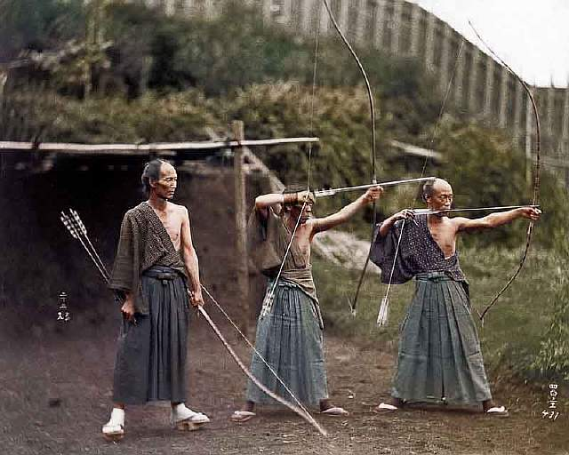 kyudoka-japanese-archers-c1860-photo-chopshop