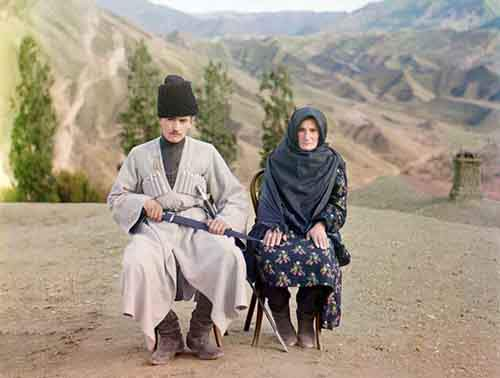 a-man-and-woman-in-dagestan-pose-for-the-photographer