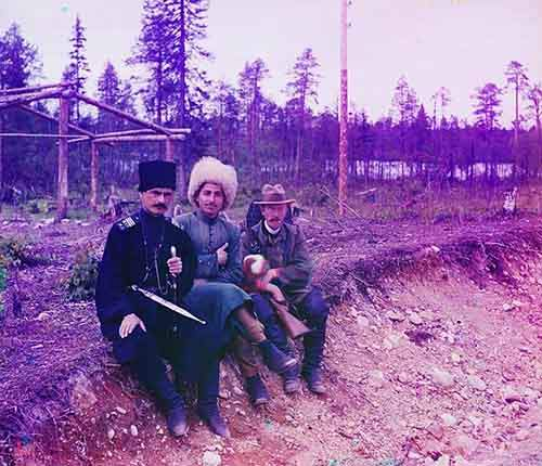 here-is-serge-mikhalovich-prokudin-gorski-himself-on-the-right-sitting-with-two-men-in-cossak-dress