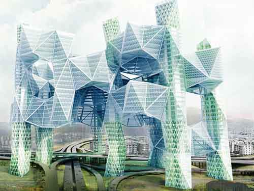 skyvillage-for-los-angeles-is-a-proposal-for-a-building-that-includes-green-filtering-towers-to-clean-freeways-and-also-connect-the-citys-segmented-downtown