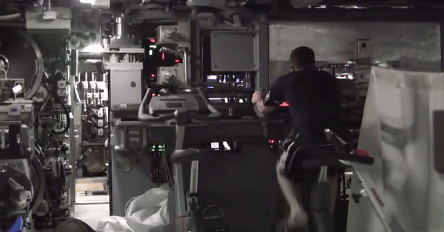 subs-also-have-limited-gyms--generally-small-with-just-one-or-two-machines--to-allow-sailors-to-keep-in-shape-while-deployed
