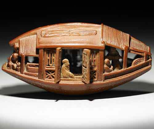 Carved Olive Pit from 1737