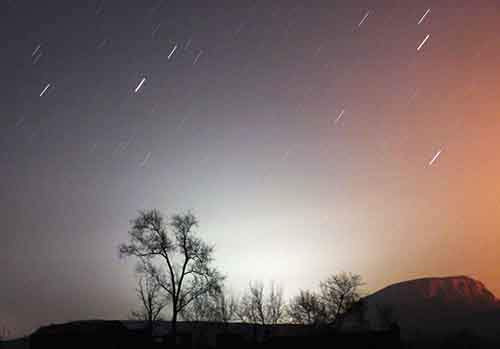 a-long-exposure-photo-shows-star-trails-behind-a-tree-in-china