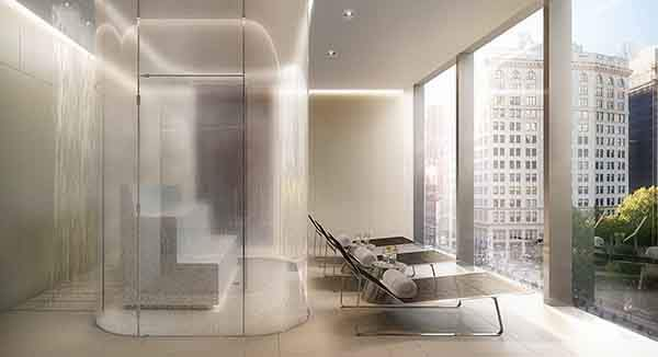 the-buildings-spa-has-a-glass-enclosed-steam-room-and-lounge-chairs-overlooking-madison-square-park