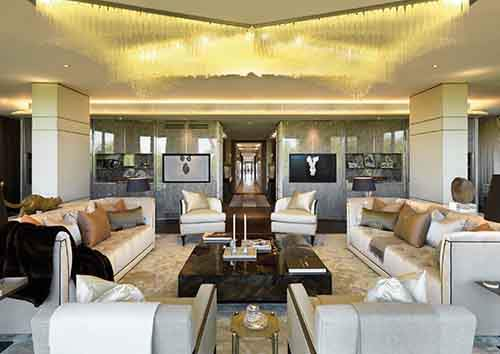 formal reception with corridor - ohp 5 bedroom show apartment