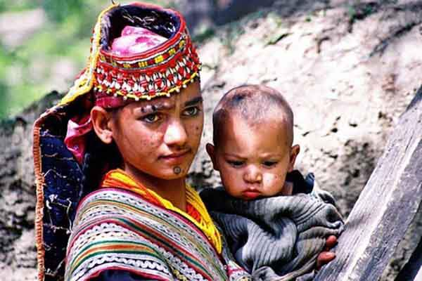 Kalash Mother, Northwest Frontier Province, Pakistan