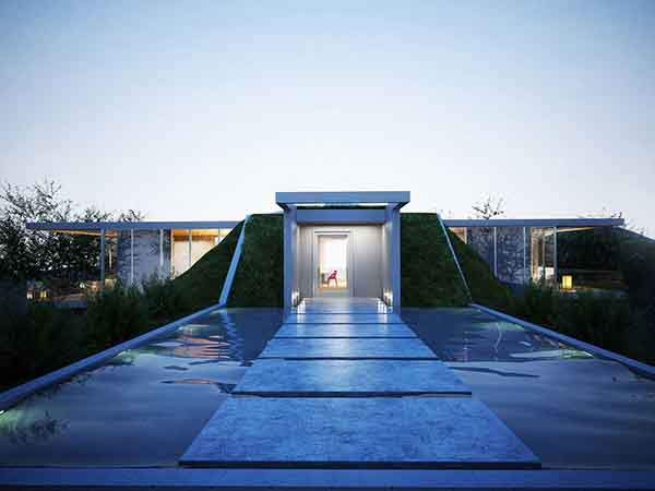 Water-Feature-Bridge-Lighting-Earth-House-Project