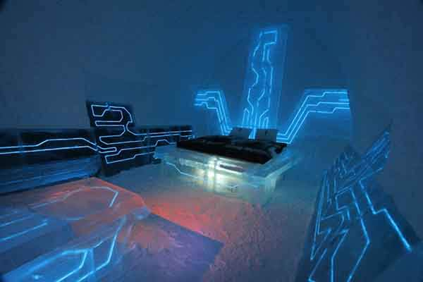 Disney-Tron-Legacy-inspired-legacy-of-the-river-suite-at-the-Ice-Hotel-arctic-sweden-1