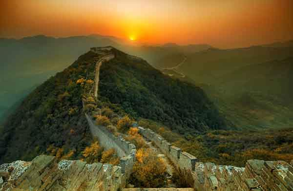 Trey Ratcliff - China 2011 - A Great Wall at Sunset-X2