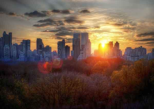 New York in the Autumn at Sunset-X2