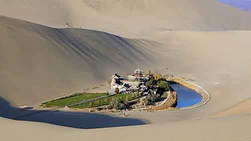 A little Oasis in the Gobi Desert