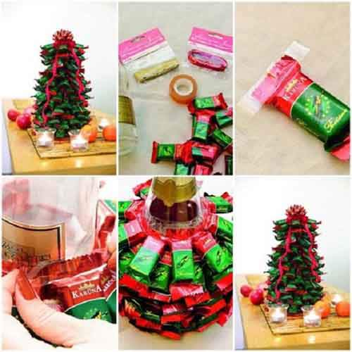 Make-A-Christmas-tree-from-chocolate-bars