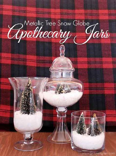 Metallic-Trees-Snow-Globe-Apothecary-Jars