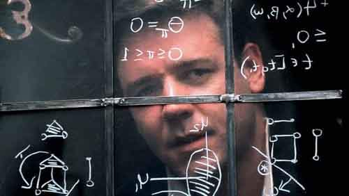-UNDATED PUBLICITY PHOTO- Actor Russell Crowe portrays mathematical genius John Forbes Nash, Jr. in ..