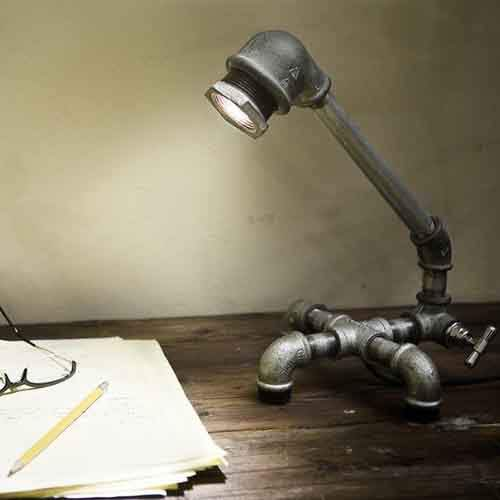 A-lamp-made-from-old-pipes