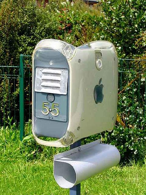 An-old-Mac-computer-is-now-a-mailbox