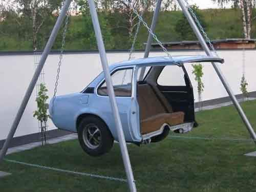 An-old-car-converted-into-a-swing