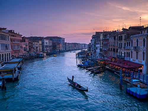sunset of Venice.