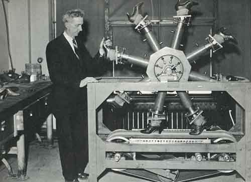 1937.-The-walking-machine-at-the-National-Bureau-of-Standards-for-testing-wear-on-shoes.-1937