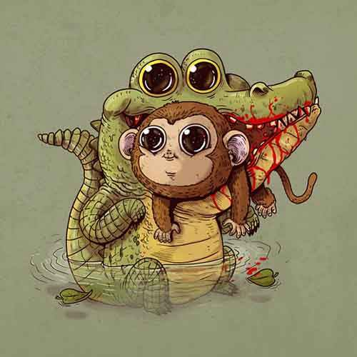cute-disturbing-animal-cartoons-predators-and-prey-alex-solis-2