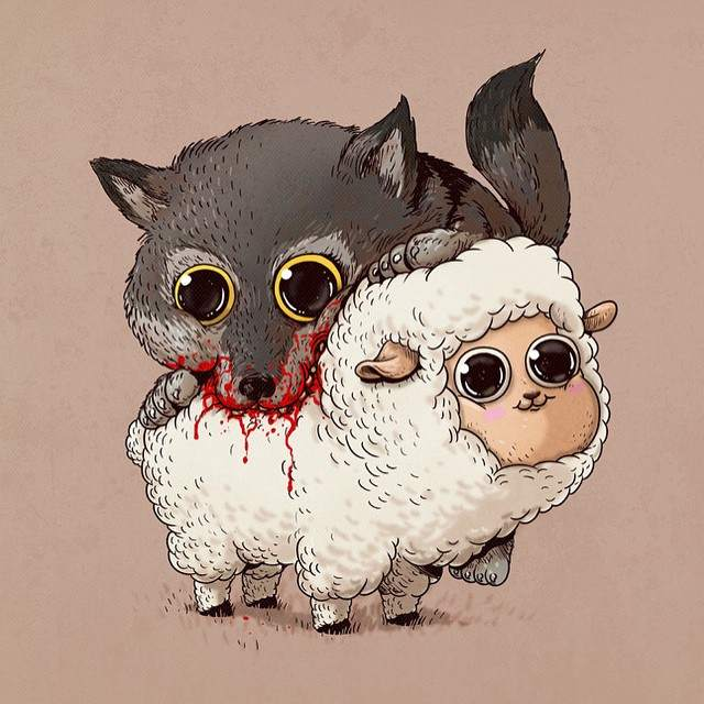 cute-disturbing-animal-cartoons-predators-and-prey-alex-solis-7