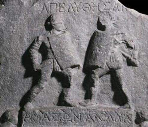 Relief-of-two-female-gladiators