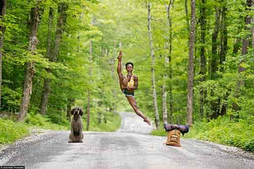 Ballerina Michaela DePrince posing for a photo shoot