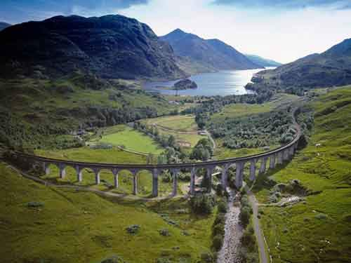 Glenfinnan Railway Viaduct, Scotland.