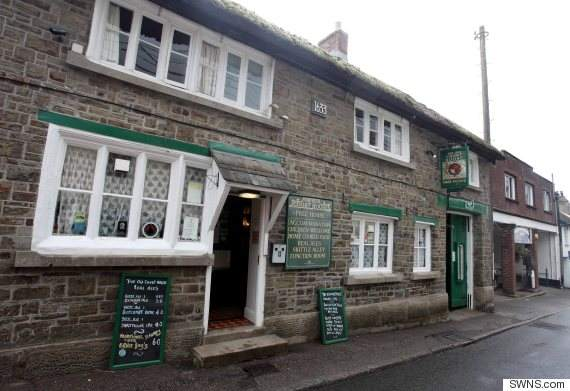 "The Old Courthouse Inn in Chulmleigh, North Devon, which is Star the duck's regular drinking spot. See SWNS story SWDUCK; A Devon duck who received worldwide fame when he was pictured in a bow tie in the front seat of a car has suffered serious injuries after a near-death encounter with a dog. Star Hayman and his handler Barrie Hayman are well known across the county. On Sunday Star had a run in with a dog and came away from the altercation with his bottom beak split down the middle. The owners of the dog, Meggie, posted on Facebook Star had ""pushed his luck too far."""