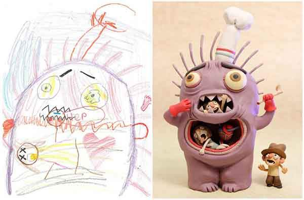the-monster-project-artists-from-around-the-world-brought-to-life-childrens-drawings-artnaz-com-2