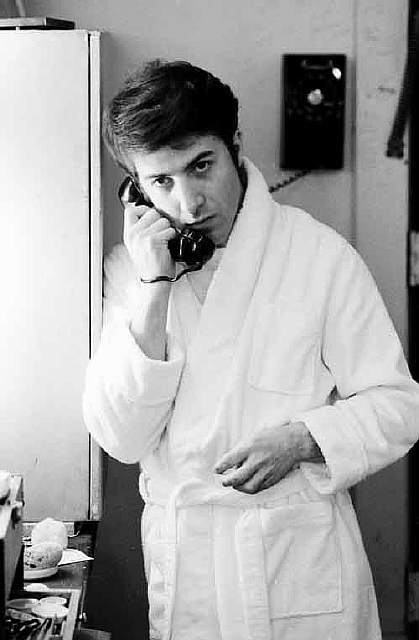 Dustin Hoffman on the phone, 1969.