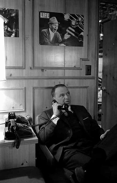 Frank Sinatra on the phone, 1965