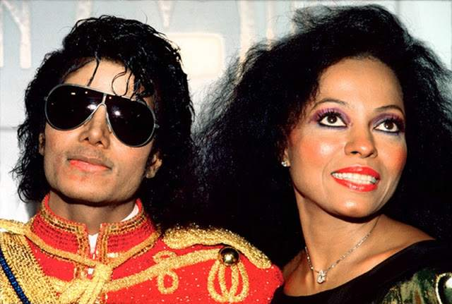 Michael Jackson with Diana Ross. Photo ©Julian Wasser all Rights Reserved. No use permitted without the written permission of Julian Wasser the creator and owner of this image. Tel 818 999-2111.