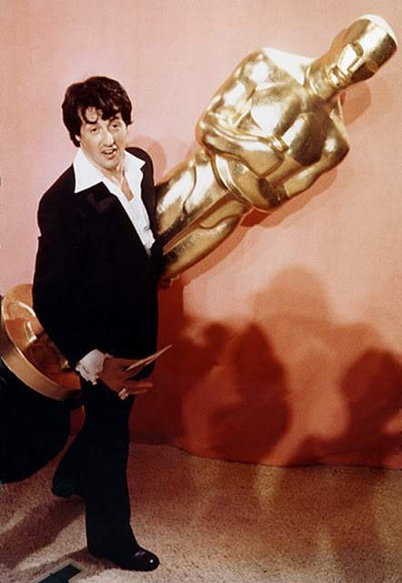 Photo of Sylvester Stallone at the 1977 Oscars at the Dorothy Chandler Pavillion in Los Angeles ©1977 Julian Wasser All Rights Reserved. No use without the written permission of Julian Wasser the creator and owner of this image. Telephone 818 999-2111.