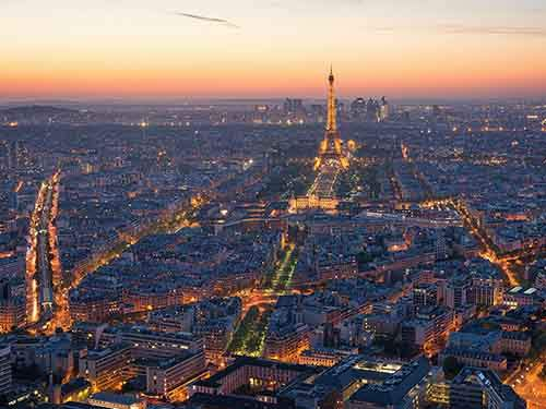 Captured from Montparnasse Tower in Paris, France.