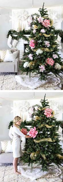 floral-christmas-tree-decorating-ideas-30__605