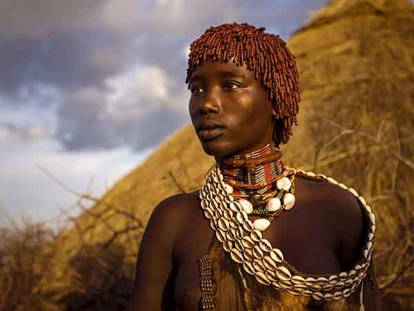 Ethiopia southern red tribe woman portrait