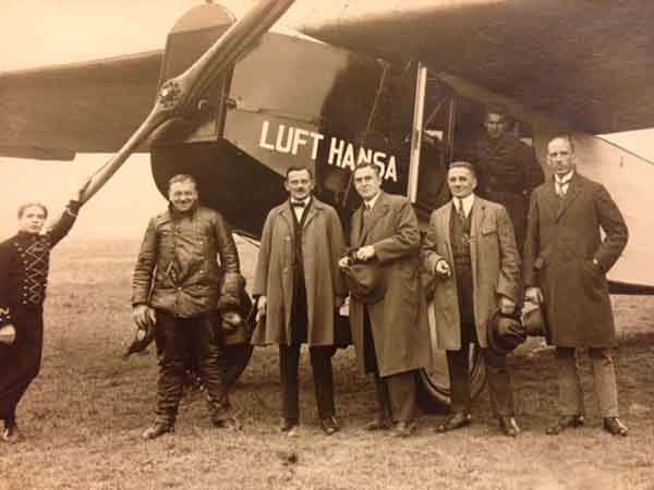 Lufthansa Airlines, looking dapper in 1926