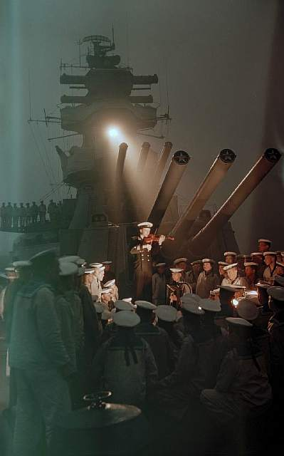 Soviet sailors and a violin performance over the Pacific, 1955