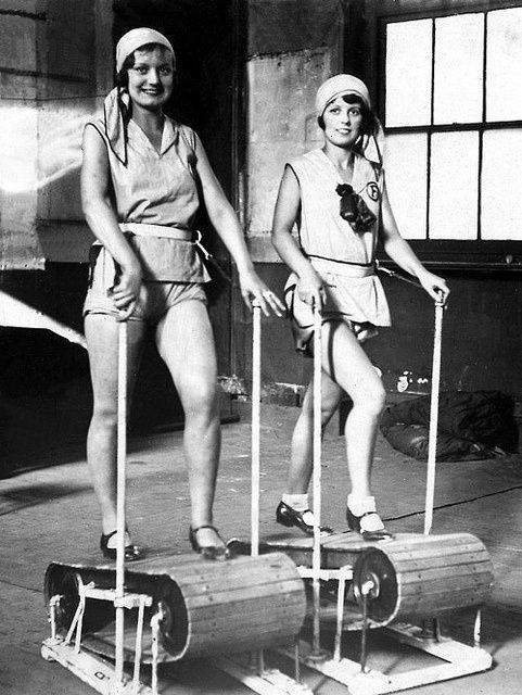 Working it on the treadmill - 1920s