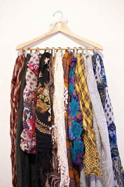 You just need one hanger for storing all your shawls and scarves