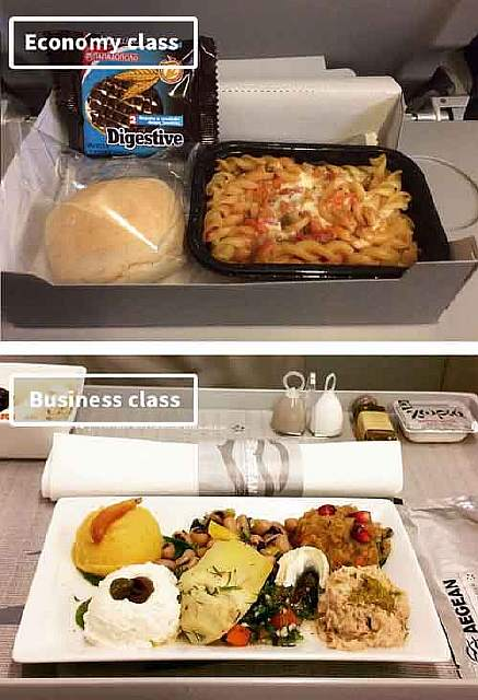 Aegean Airlines-airline-food