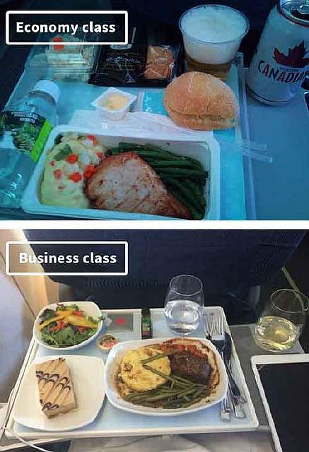 Air Canada-airline-food