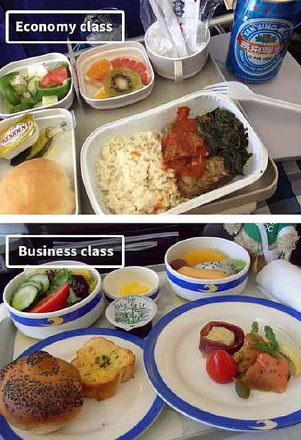 Air China-airline-food-business-vs-economy